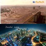 دبي_الإمارات ، هكذا كانت في 1991 إلى أن اكتمل البنيان عام 2013 !!!