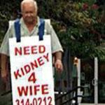 رجل يجوب المدن بحثا عن متبرع بكلية لزوجته