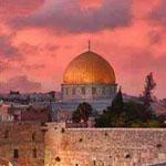 غروب الشمس على مسجد قبة الصخرة