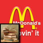 الكتب بدل لعب الأطفال في شبكة ماكدونالدز