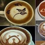 فن الرسم على فنجان القهوة