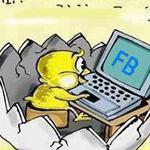 لسه ما فقس من البيضة وعنده فيس بوك هه...