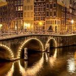 ليلة شتاء في أمستردام بـ هولندا