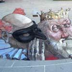 رسوماته في شوارع إسبانيا  تتسم بالطاب...