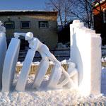 ابداع وفن النحت على الجليد