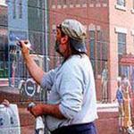 هل يرسم على الحائط ام على الهواء؟ رسم ثلاثي الابعاد رووووعه