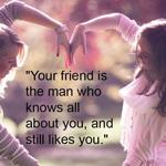 الصداقة محبة وإخلاص