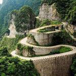 أخطر طريق في العالم  في الصين ويحتوي ...