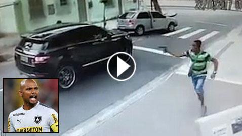 سرقة سيارة لاعب كرة قدم شهير في هجوم مسلح وخاطف! فيديو