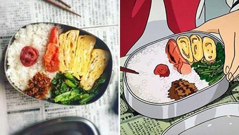 أمهات يابانيات يقلدن وجبات الطعام في أفلام الكرتون اليابانية بطريقة رائعة ومطابقة.. صور
