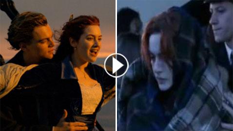 مفاجأة مذهلة: شاهد فيديو مؤثر تم حذفه من فيلم تيتانيك! لم يعرض من قبل!