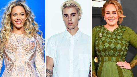 قائمة الموسيقيين الأكثر ربحا في 2017 بينهم بيونسيه، اديل وبيبر، فمن الأول؟