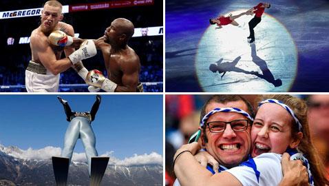 بالصور.. أبرز اللقطات الرياضية لعام 2017
