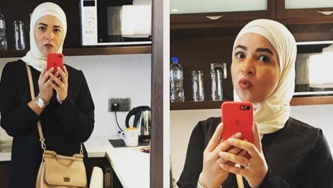 صور ايمي سمير غانم بالحجاب والعباءة.. هل اعتزلت الفن؟