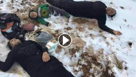 فيديو وصور: قصة مأساوية لعائلة سورية هربت من الحرب لتموت من البرد