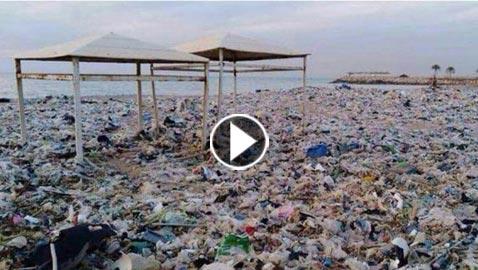 فيديوهات وصور للفضيحة اللبنانية على شاطىء البحر