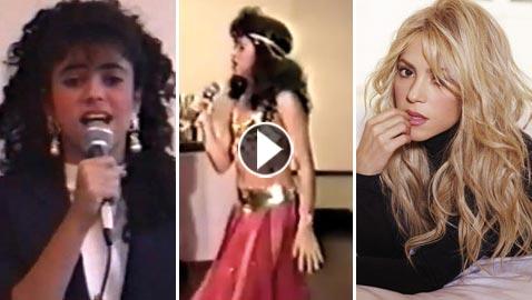 اول فيديوهات شاكيرا: رقص شرقي في سن 12 عاما وغناء اسباني