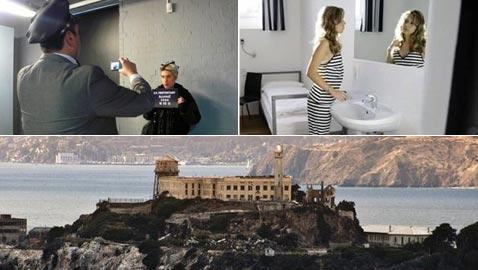 بالصور.. فندق غريب يحاكي سجن ألكتراز الشهير