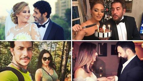 صور فنانين تزوجوا بعد قصة حب منهم تيم حسن ووفاء الكيلاني