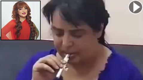 خادمة بدرية أحمد تسرّب فيديو للفنانة تتعاطى المخدرات! شاهد الفيديو