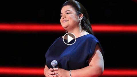 متسابقة ذا فويس (همسة منيف) في برنامج مواهب سابق وتعرف اليسا! بالفيديو