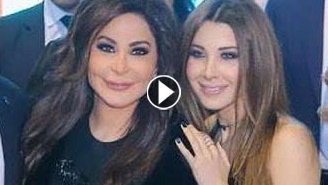 فيديو اليسا تتجاهل نانسي عجرم وتحرجها وترفض عناقها