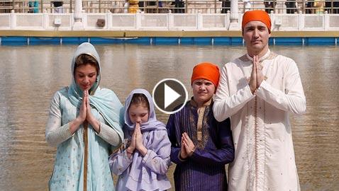 زوجة وابنة رئيس وزراء كندا ترتديان غطاء للرأس