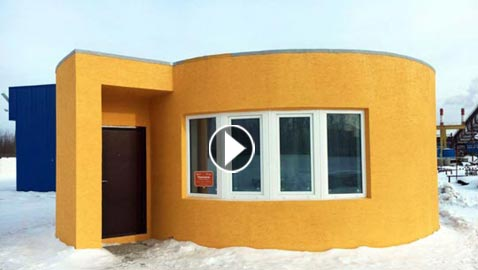 بالفيديو.. بناء منازل بتقنية الطباعة ثلاثية الأبعاد