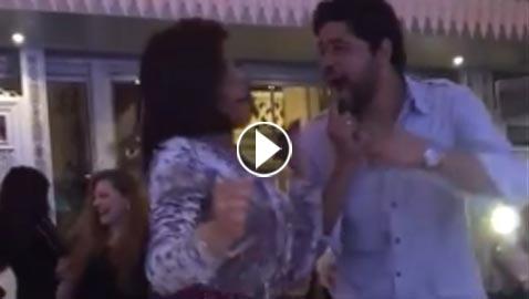 فيديو ناهد السباعي ترقص مع خطيبها على أغنية المهرجانات