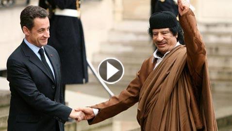 تسجيل صوتي للقذافي وإبنه يكشفان رشوة رئيس فرنسا