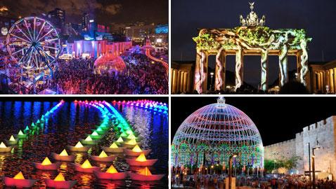 مهرجانات الاضواء الخلابة حول العالم.. بضمنها مهرجان القدس في فلسطين..