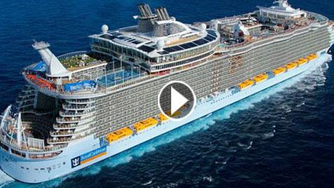 بالفيديو والصور.. شاهدوا أكبر سفينة في البحر الأبيض المتوسط