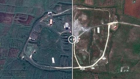 بالصور.. أهداف سورية قبل وبعد الضربة