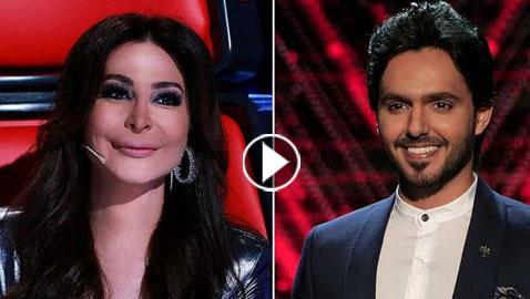 تسريب فيديو من كواليس ذا فويس: بدر آل زيدان  يعتذر من إليسا ويقبل يدها
