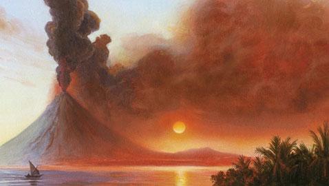 أكبر انفجار بركاني في التاريخ تسبب بكارثة بشرية