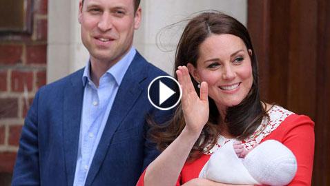 كيت ميدلتون تنجب طفلها الثالث والأمير وليام والاولاد يزورون الأمير الجديد