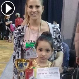 بالفيديو والصور.. نجمة جمباز أردنية تحصد المركز الأول في اولمبياد روسيا