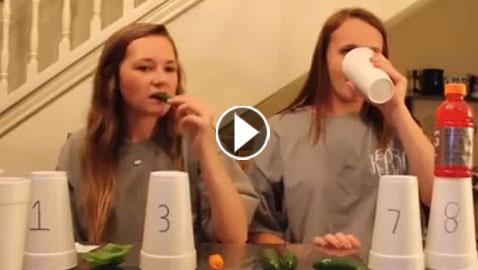 فيديو تحدِّي بين فتاتَيْن لتناول الفلفل الحار