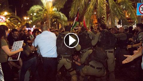 تعامل الشرطة الإسرائيلية مع العرب في مسيرة حيفا تثير جدلاً