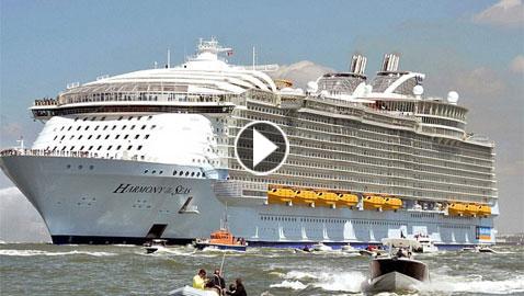 بالفيديو.. أكبر 15 سفينة سياحية في العالم
