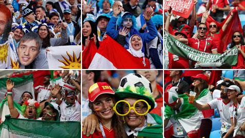 بالصور.. أجواء مدرجات الجماهير في ثاني أيام بطولة كأس العالم