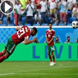 فيديو المغربي عزيز بوحدوز يعتذر لتسجيله هدف فوز ايران بالخطأ: انا غبي!
