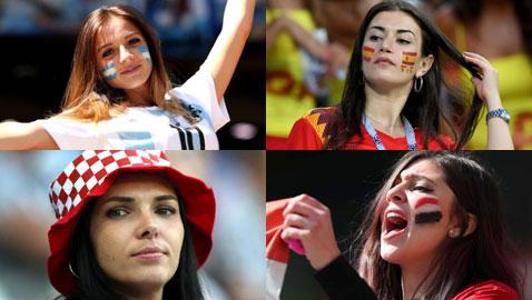 صور مشجعات المونديال على المدرجات تشجعن فرقهن المفضلة