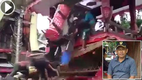 مأساة.. وفاة إندونيسي بعدما سقط عليه تابوت والدته أثناء تشييعها! فيديو