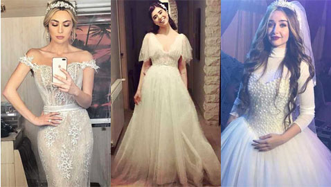 14 فستان زفاف ارتدتها النجمات في مسلسلات رمضان 2018.. أيها اجمل؟