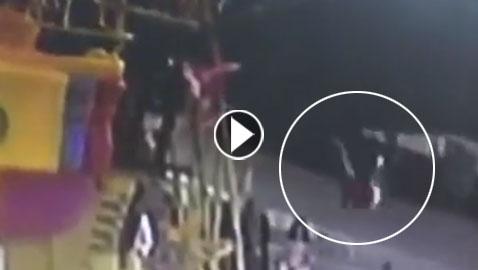 مصرع طفل (13 عاما) بعد سقوطه من لعبة في مدينة ملاه! فيديو