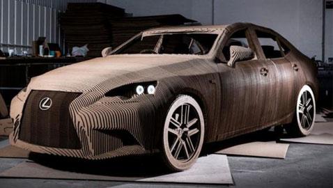 صور: سيارة لكزس الفريدة مصنوعة من الكرتون وقابلة للقيادة!