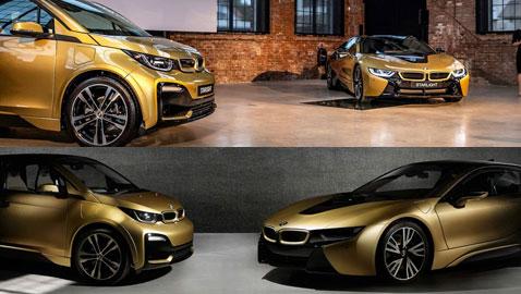 أحدث سيارات بي إم دبليو: سيارتان فاخرتان مطليتان بالذهب (24 قيراط)!