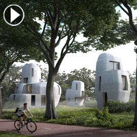 بالفيديو والصور.. أول مبنى سكني في العالم مبني بالطباعة ثلاثية الأبعاد