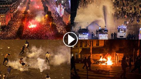 بالفيديو والصور: احتفالات الفرنسيين بكأس العالم تتحول إلى دمار كارثي ووفاة شخصين!
